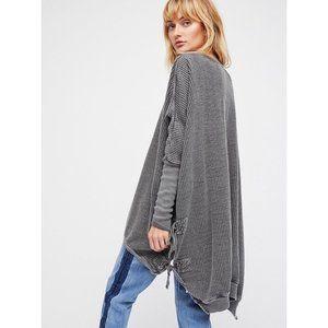 FP Free People Gray Interlaken Oversize Sweater